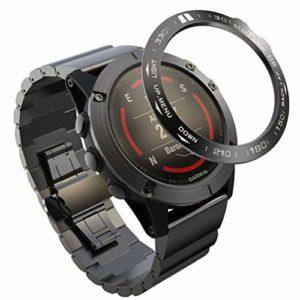 UKCOCO Compatible pour Garmin Fenix 5X Lunette Anneau Anti Rayures Et Protecteur de Collision Compatible pour Garmin Montre