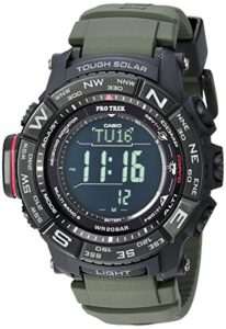 Casio Men's 'PRO TREK' Tough Solar Powered and Stainless Steel Watch, Color:Green (Model: PRW-3510Y-8CR)