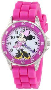 Disney MN1157 Montre Bracelet Fille Caoutchouc Rose
