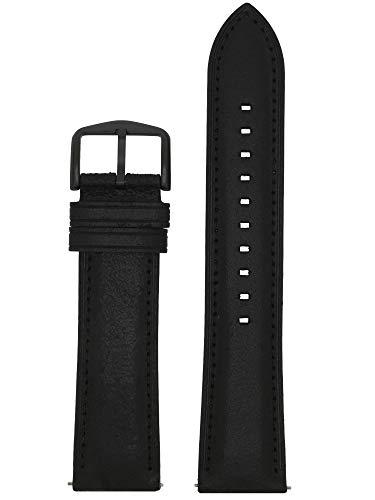 Fossil LB-FS5503 Bracelet de montre de rechange en cuir Noir 22 mm
