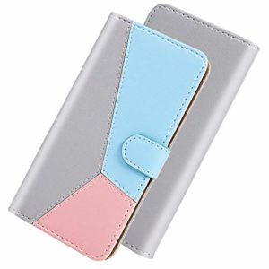 GIMTON Coque pour Xiaomi Redmi Note 8, Magnétique Anti Rayures Étui en PU Cuir avec Slots de Carte, Souple Portefeuille Housse pour Xiaomi Redmi Note 8, Gris