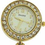 Henley hf08.2–Montre de Poche, Bracelet en Acier Inoxydable Couleur Or