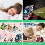 HGYYIO Montre Intelligente pour Enfants, avec Conversation Bidirectionnelle Calculateur MP3avec Appareil Photo Numérique, Cadeau Garçon et Fille