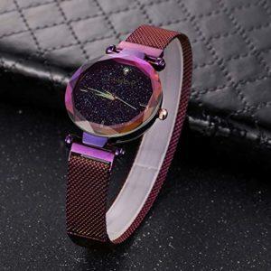 HOUSEHOLD 6877 Montre de sport à quartz avec bracelet en acier inoxydable HBDZ