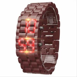 Iron Samurai Metal Bracelet Lava Watch LED Digital Watches Hour Men Women F