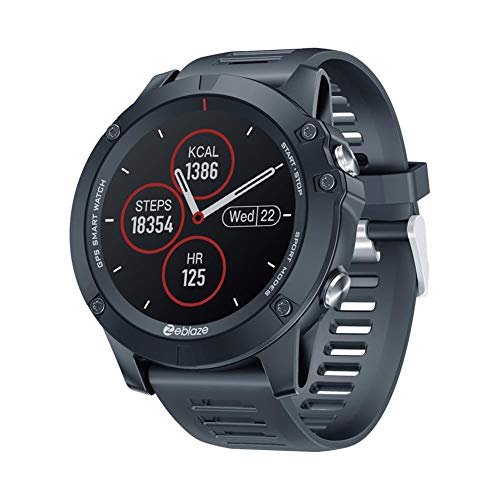 Kongxin Montre Intelligente, Zeblaze Vibe 3 GPS Fitness Watch, Sport Fitness Tracker avec Puce intégrée 28 nm GPS et capteur Optique de fréquence Cardiaque pour Android/iOS