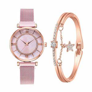 Mode Dames Montres Bracelet Ensemble Femmes Montres Aimant Boucle Montre Femme Quartz Montre-Bracelet