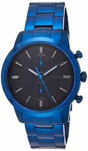 Montre chronographe Fossil Townsman avec Bracelet en Acier Inoxydable Bleu pour Homme FS5345