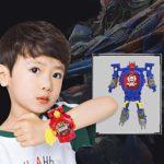 Montre de déformation électronique de Robot de Dessin animé FYstar Montre de Projection d'enfant de garçon