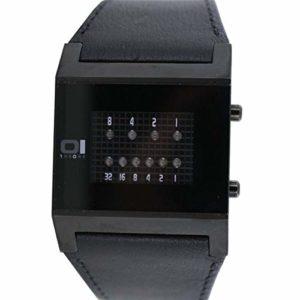 The One – KT202R1 – Montre Homme – Quartz – Système affichage binaire par Led – Bracelet en Cuir noir