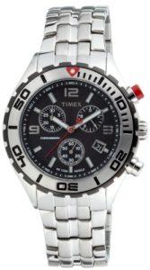 Timex – T2M759 AU – Montre Homme Acier – Timex Sport Luxury – Quartz Analogique – Cadran Noir – Bracelet Acier