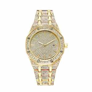 Watche Montre à quartz avec calendrier pour femme Or rose, doré, argenté, montre à quartz pour femme