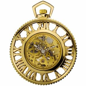 ZHJBD JIAN,Pocket Watch Monde Romain Engins De Machines À Vapeur Animée Automatique Montre Mécanique Entourant La Poche Rétro Montre Nostalgie Deuxième Élément (Color : 2)