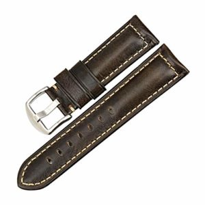 Accessoires de Mode Montre Bracelet 20mm-26mm en Cuir Bracelet Noir Boucle du Bracelet Montre,19mm