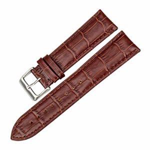 Accessoires de Montre avec Bracelet en Cuir véritable Montre 18mm 20mm 22mm Montre Band Men Watchband,21mm