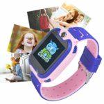 AMONIDA Enfants regardent 4 Couleurs Enfants Montre Intelligente 32G Enfants en Plein air à la Maison pour garçons Filles(Pink)