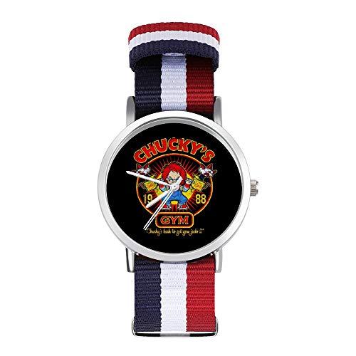 Chuckys Montre de sport pour enfants avec bracelet tressé avec échelle