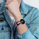 Digidestined Montre à bracelet tressé pour enfant Motif troisième vague