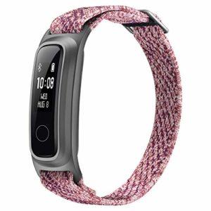HONOR Band 5 Sport Montre Connectée Bracelet, Fibre écologique Bracelet avec 2-Voies Portant Bracelet d'activité pour Nager Fonctionnement Basketball, Sakura Rose