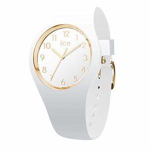 Ice-Watch – ICE glam White Gold – Montre blanche pour femme avec bracelet en silicone – 015339 (Medium)