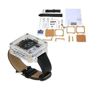 KKmoon SCM Transparent LED Montre DIY Kit LED Numérique Tube Montre Bracelet Électronique
