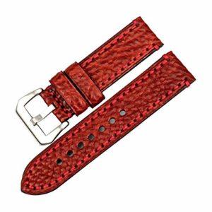 Mode Montre Accessoires en Cuir watchbands Casual Montre Band Bracelet,24mm