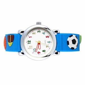 Montre-bracelet pour garçon, lot de 2 montres pour tout-petits garçons, pour 3-10 ans, montres en silicone 3D Cartoon