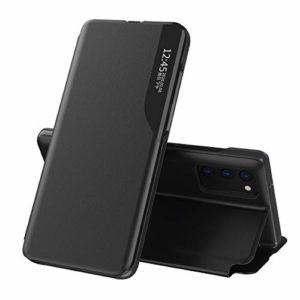 Oihxse Smart View Cover Compatible pour Samsung Galaxy S8 Coque Étui à Rabat Housse en Cuir avec [Fenêtre de Vue] [Fonction Stand] Ultra Léger Antichoc Intelligent Flip Case,Noir