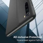 Oihxse Smart View Cover Compatible pour Xiaomi Redmi Note 8 Pro Coque Étui à Rabat Housse en Cuir avec [Fenêtre de Vue] [Fonction Stand] Ultra Léger Antichoc Intelligent Flip Case,Noir