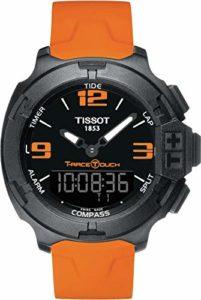 Tissot T0814209705702 Montre pour hommes avec bracelet en caoutchouc et boîtier en aluminium, avec indicateur de date