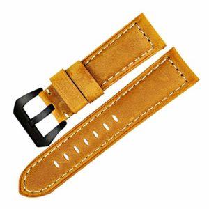 Watchbands Montre Vintage en Cuir véritable Bracelet Bande Montre Accessoires,24mm