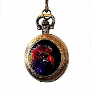 Xinzhahi Collier avec montre de poche Motif aigle Phénix