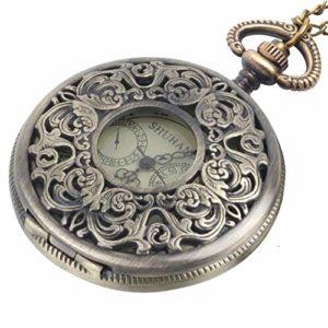 81stgeneration Collier Vintage Pocket Watch longue chaîne en laiton mécanique