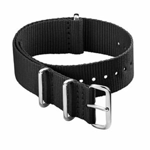 Archer Watch Straps Courroies De La NATO De Nylon (Noir, 22mm)