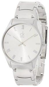 Calvin Klein Montre bracelet à quartz analogique en acier inoxydable k4d2114z