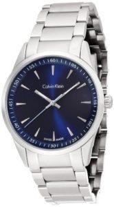 Calvin Klein Montre bracelet à quartz analogique en acier inoxydable K5A3114N