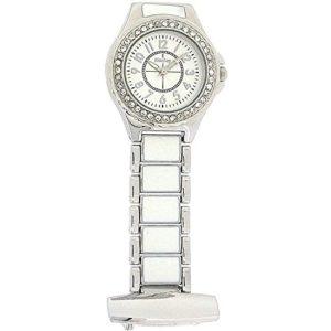 Henley – HF06.1 – Montre de Poche Femme – Quartz – Analogique – Bracelet Acier Inoxydable Argent