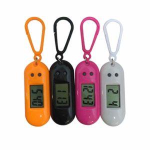 NICERIO Lot de 4 Montres de Poche électroniques légères avec Clip Mini Montre de Poche Montre numérique Porte-clés pour Enfants étudiants