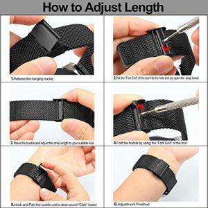 TRUMiRR 18mm Watch band Mesh en acier inoxydable Métal Bracelet pour Huawei Watch, Asus ZenWatch 2 WI502Q des femmes, Withings Activite / Acier / Pop, Fossil Q Tailor, 36mm Daniel Wellington
