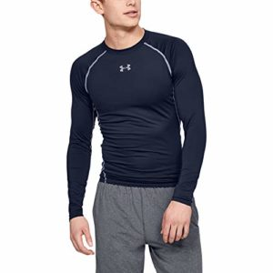 Under Armour HeatGear Chemise de Compression Homme, Midnight Navy/Steel, FR : L (Taille Fabricant : LGT)