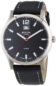 Boccia – B3580-01 – Montre Garçon – Quartz Analogique – Bracelet Cuir Noir
