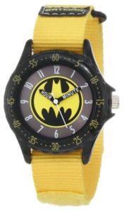 DC Comics BAT5040 Montre Bracelet Garçon Tissu Jaune