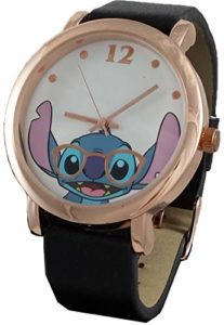 Disney Lilo and Stitch Women's Simulated Leather Rosegold Watch
