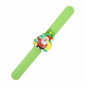 ibasenice Noël Slap Bracelets Vacances Gifle Montre Santa Bracelet Enfants Montre Jouet pour Enfants Noël Fête d'anniversaire Faveurs