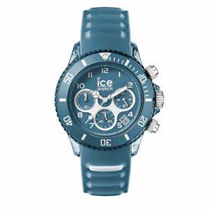 Ice-Watch – ICE aqua Bluestone – Montre bleue pour homme avec bracelet en silicone – Chrono – 012737 (Large)