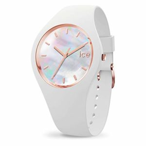 Ice-Watch – Ice Pearl White – Montre Blanche pour Femme avec Bracelet en Silicone – 016935 (Small)