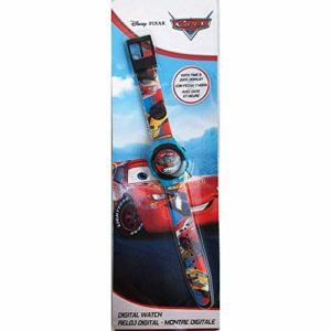 Kids Licensing   Montre-Bracelet numérique   Montre Digitale  Conception de Films de Voitures   Bracelet imprimé Multicolore   23cm   Sphère de 3,5 mm   Résistant   en Plastique   Licence Officielle