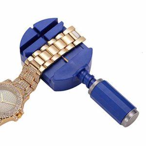 pour Les Femmes Dames Montre Lien Remover régleur Bracelet Bracelet Band Repair Tool Kit (Bleu)