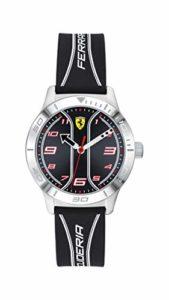 Scuderia Ferrari Unisexe Analogique Quartz Montre avec Bracelet en Silicone 810024