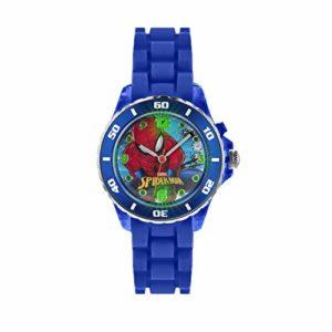 Spiderman Enfants de Montre à Quartz avec Affichage analogique et Bracelet en Caoutchouc Bleu Cadran Multicolore spd3415